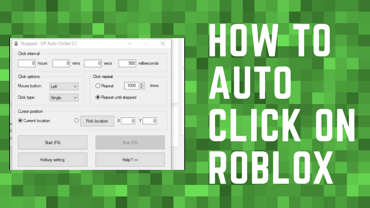 how to auto click on roblox