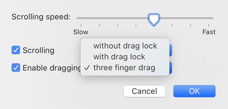 Enable Dragging on MacBook