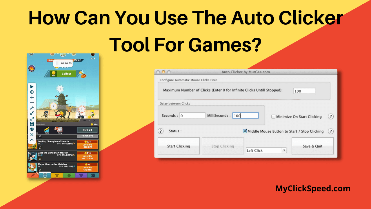 How can you use the Auto clicker tool for games?