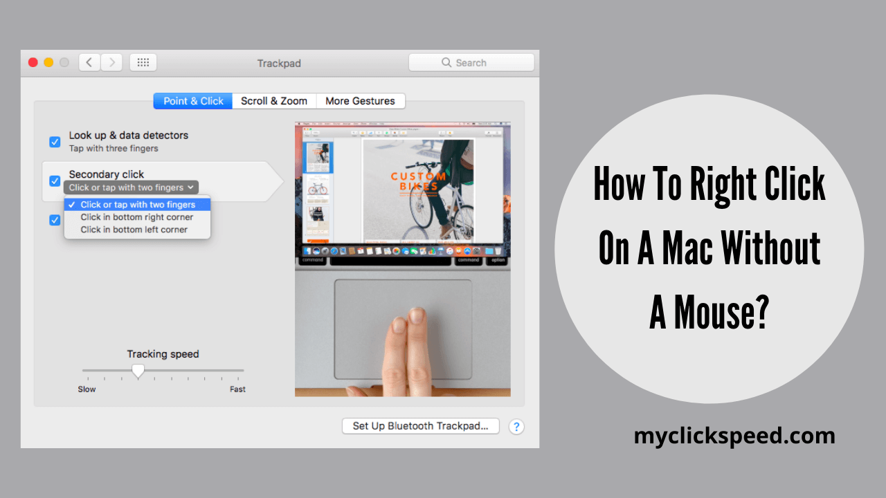 How to right click on mac without a mouse
