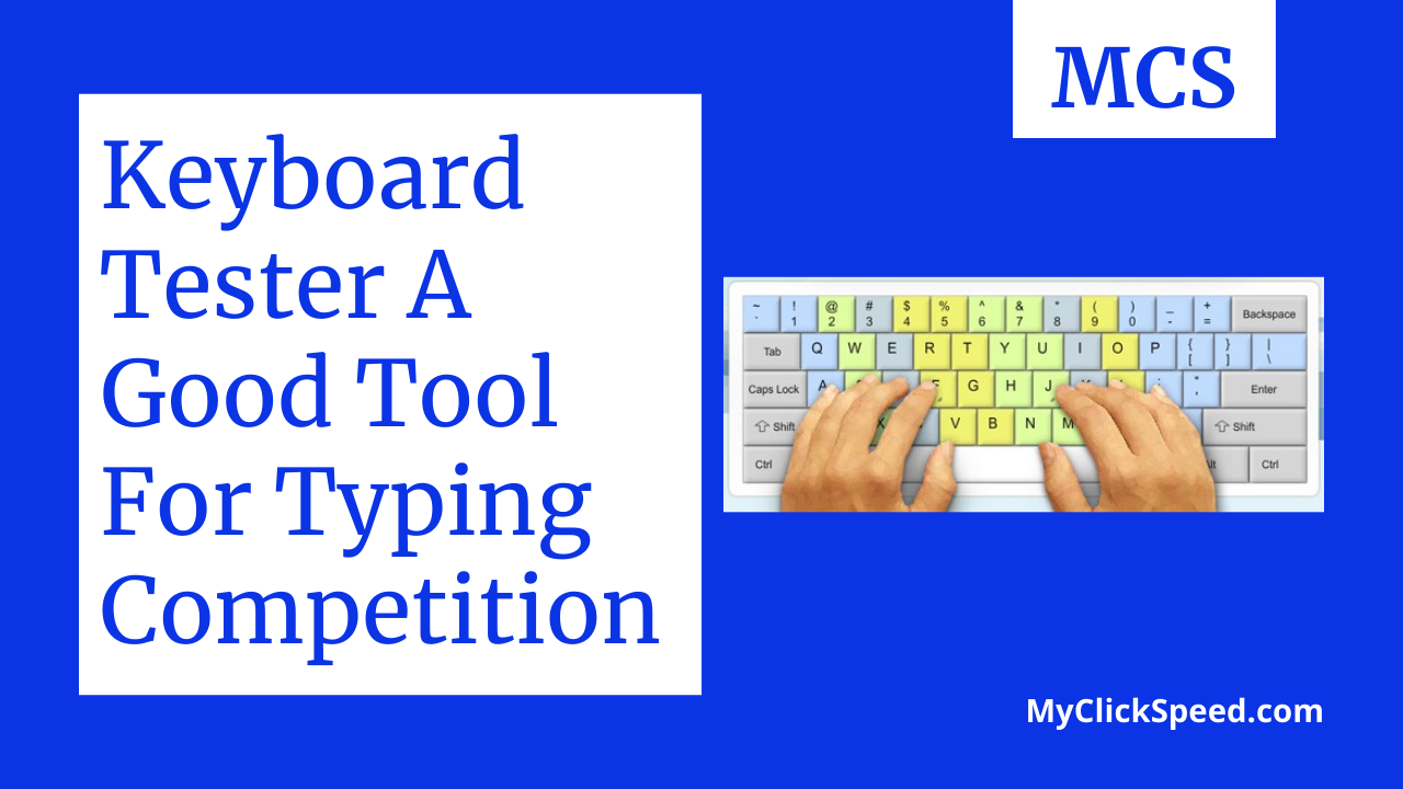 keyboard tester a good tool for typing competition