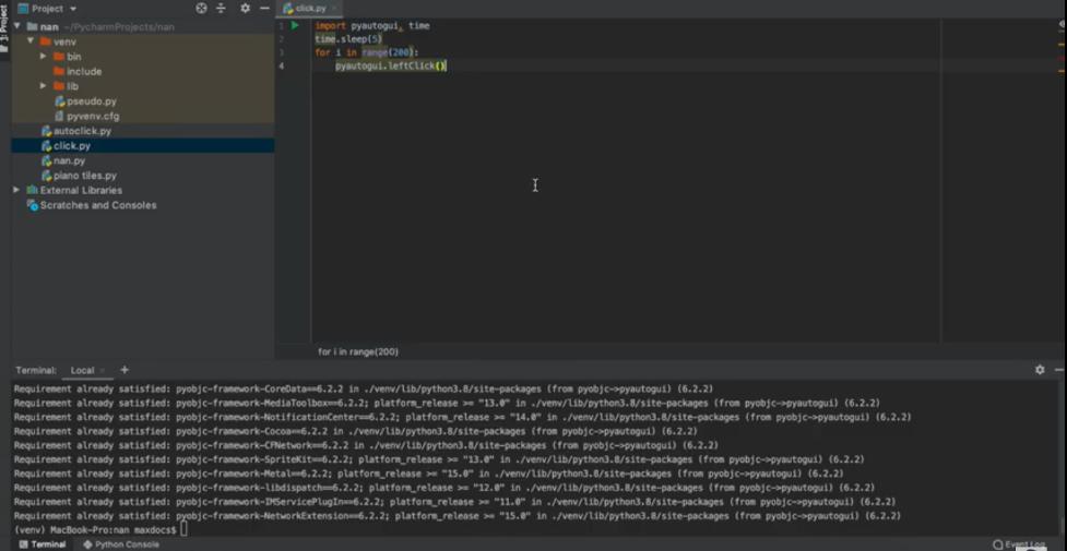 Auto Clicker on Python