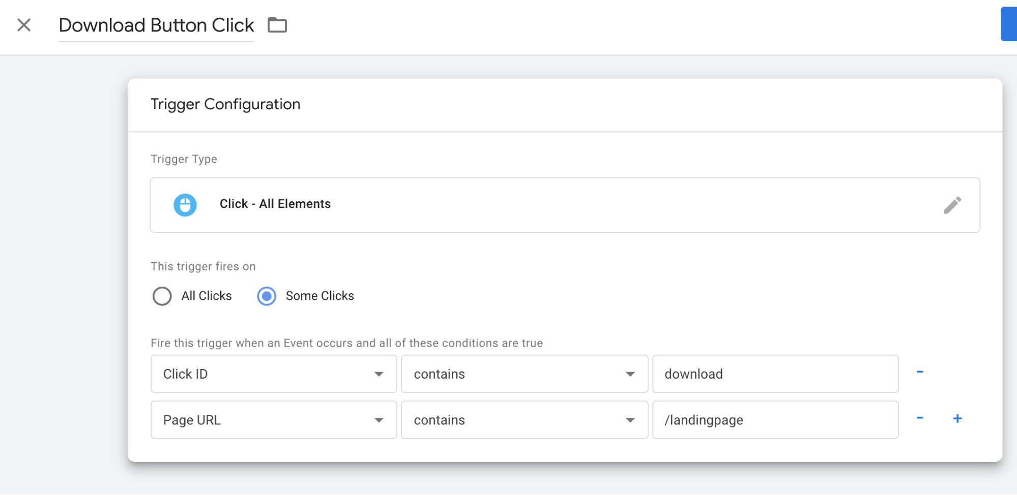 Click on Click All Elements and Choose Some Clicks Google Tag Manager