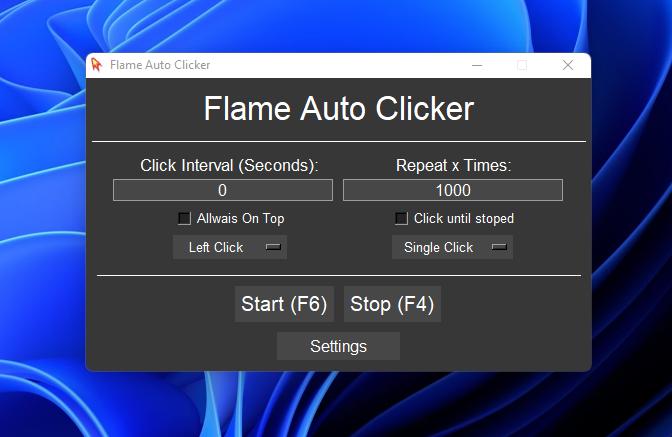 Flame Auto Clicker