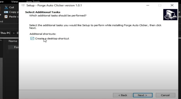 Install Forge Auto Clicker