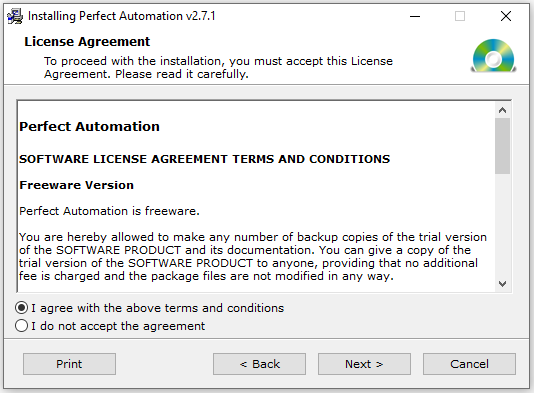 License Agreement for Perfect Automation v2.7.1